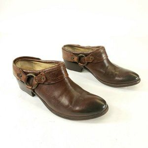 Frye Mules Clog Bootie Shoes Harness Strap Slip On